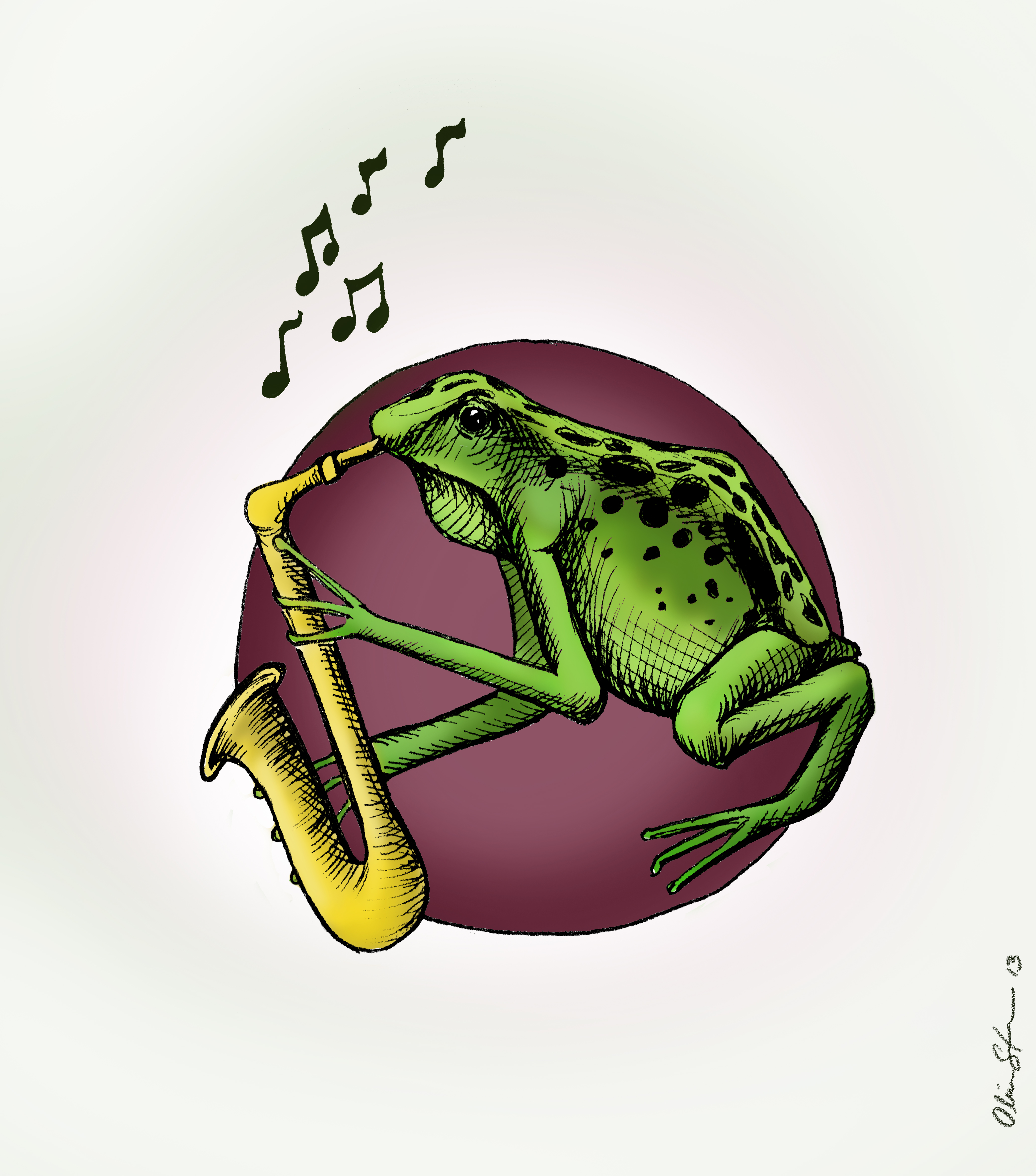 Frogging the saxophone color