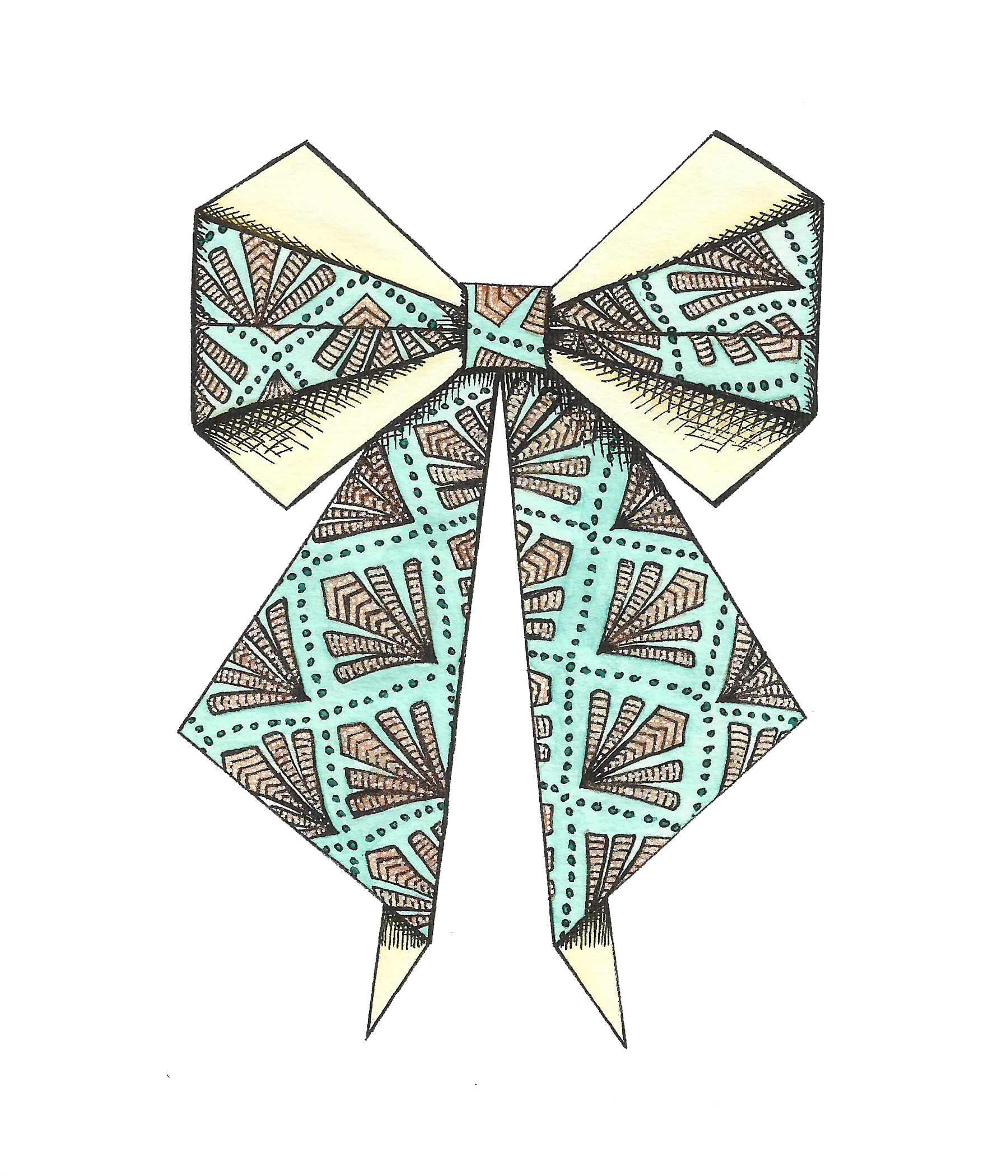 Pattern Bow in ire and bronze