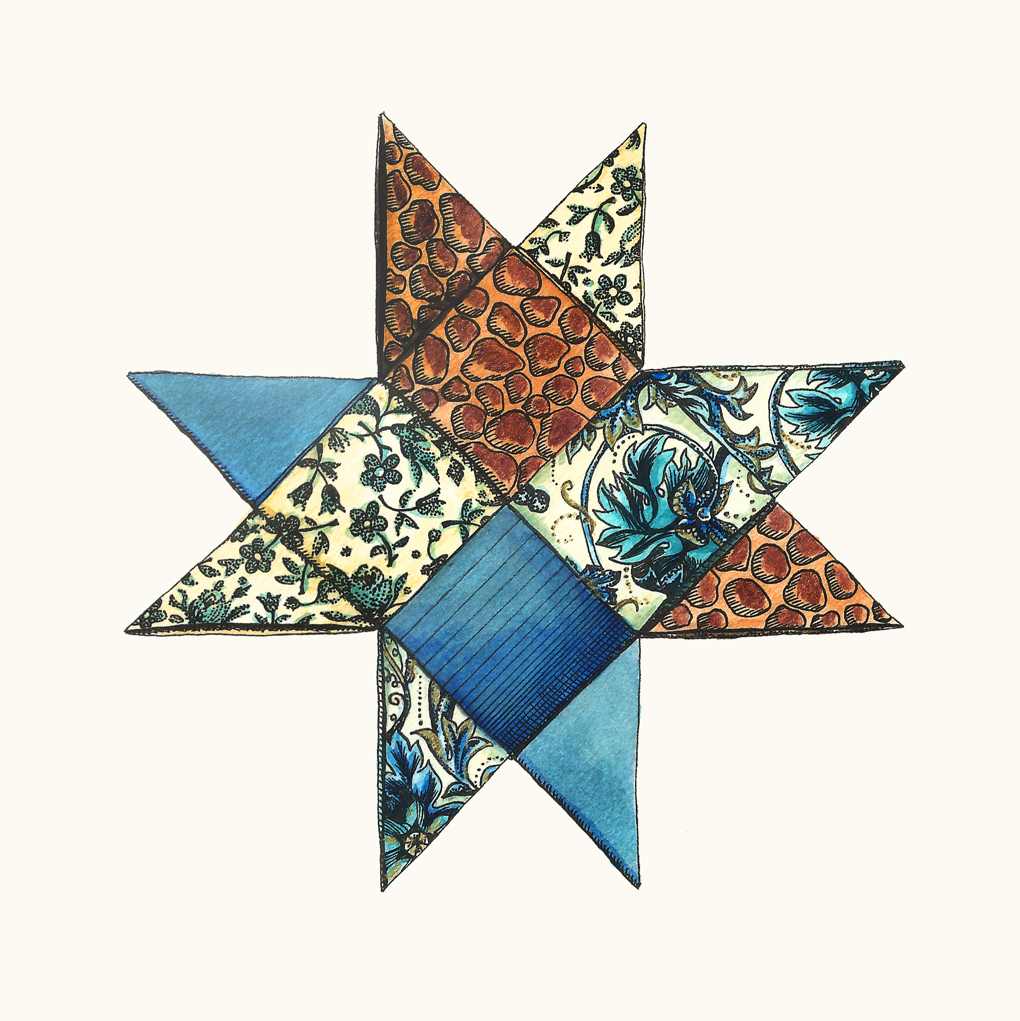 Pattern Star I, now incolor!