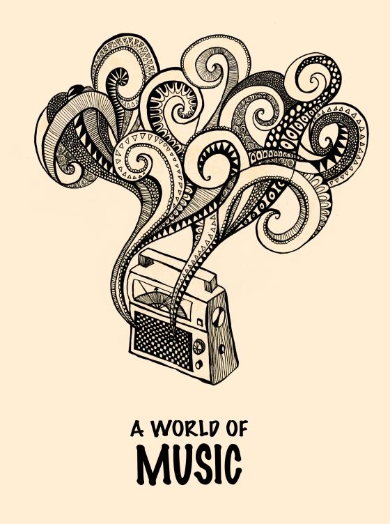 Poster design for a radio station