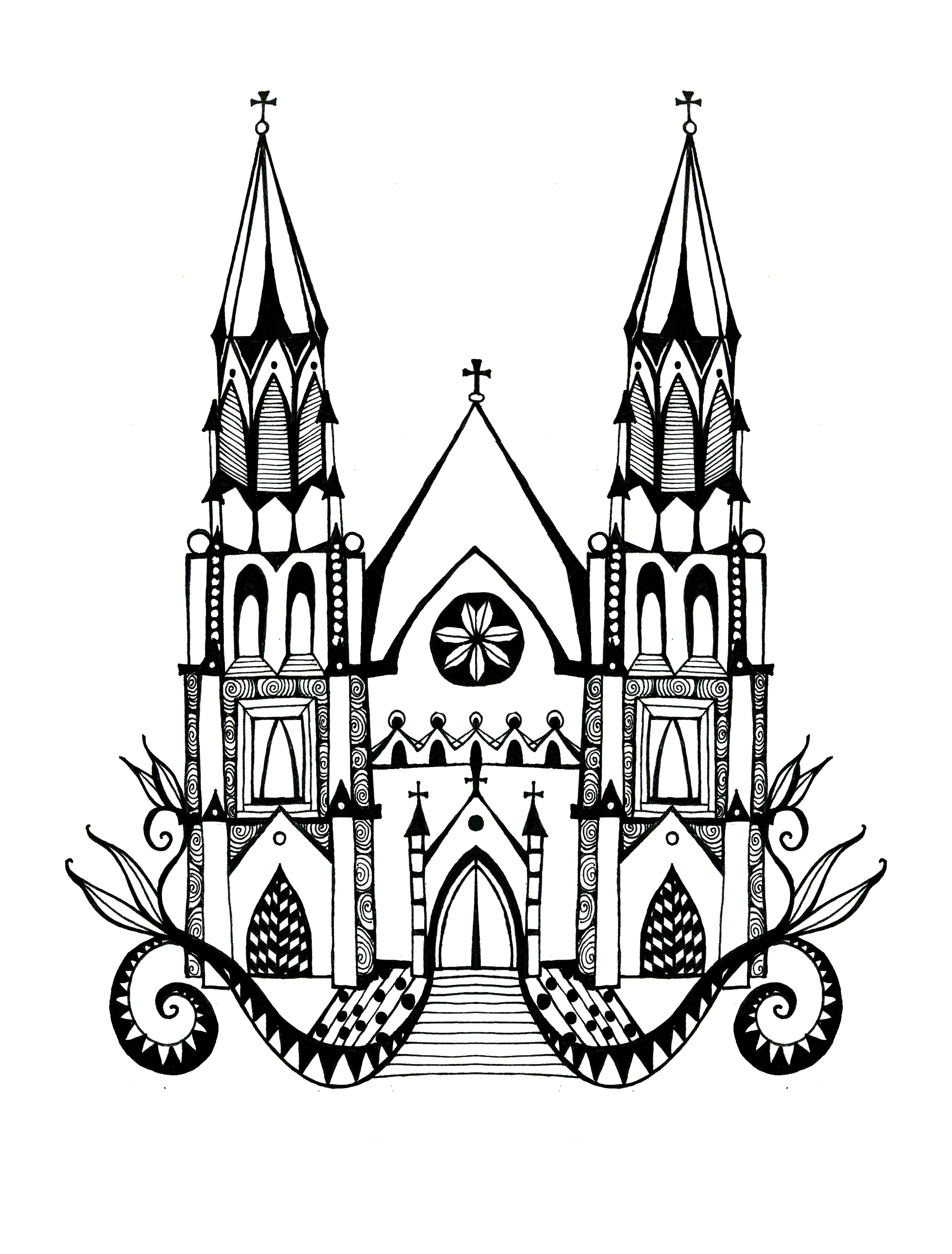 St. John's Cathedral spot illustration