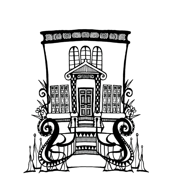 Spot illustration three - Savannah Historic district