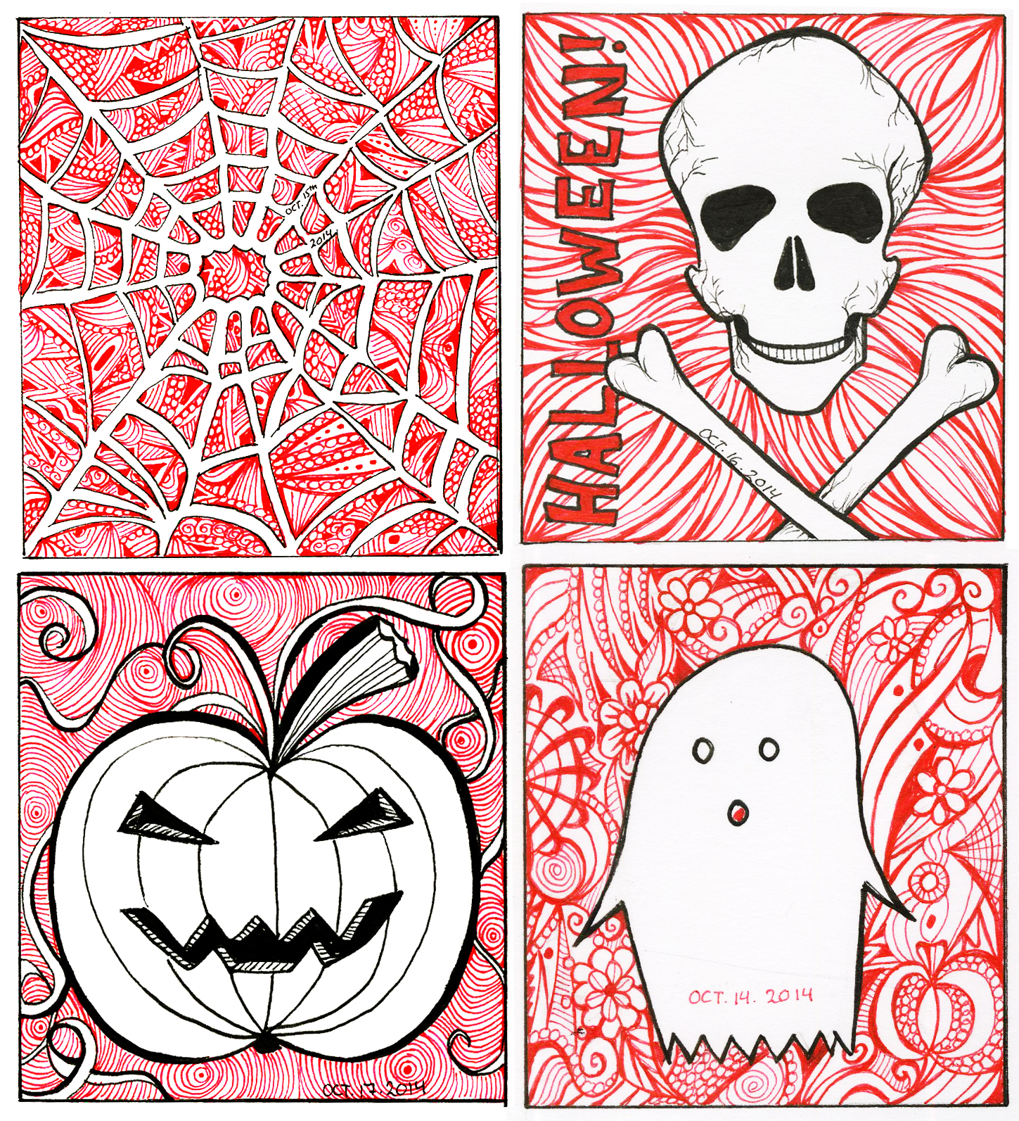 Inktober 14th – 17th – Halloween