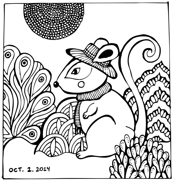 Inktober 2! Earth-mouse