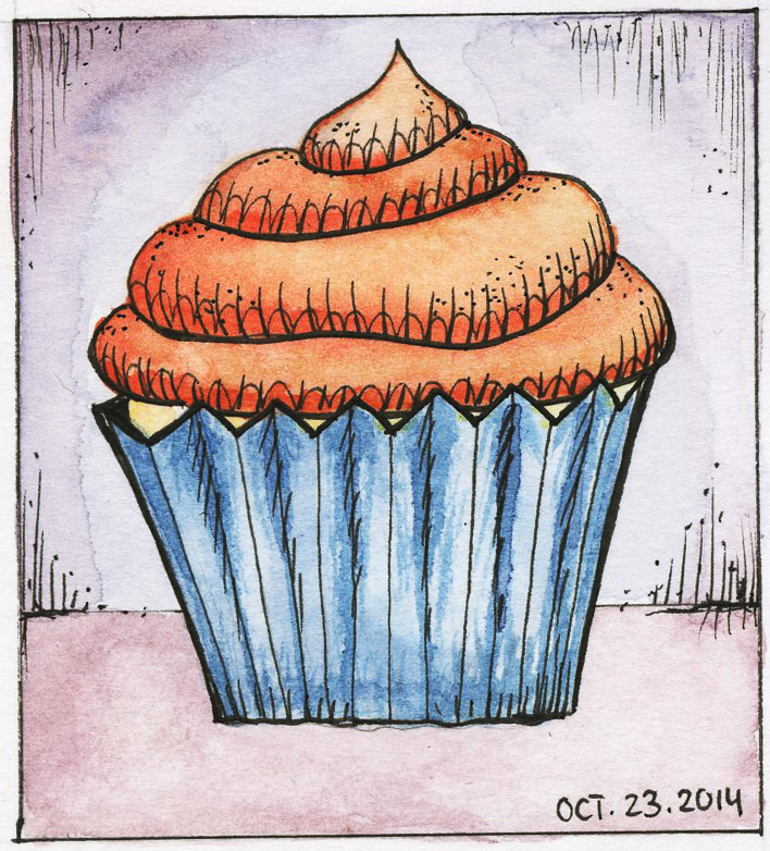 Inktober 23th! Cupcake day :D