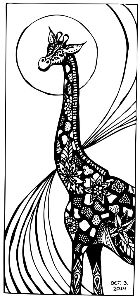 Inktober 3 –Giraffe