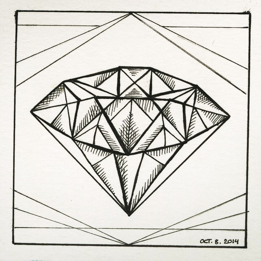 Inktober 8! Diamond