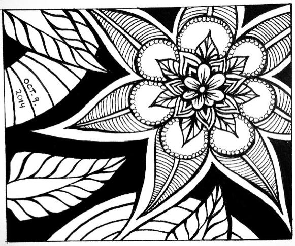 Inktober 9 –Flower