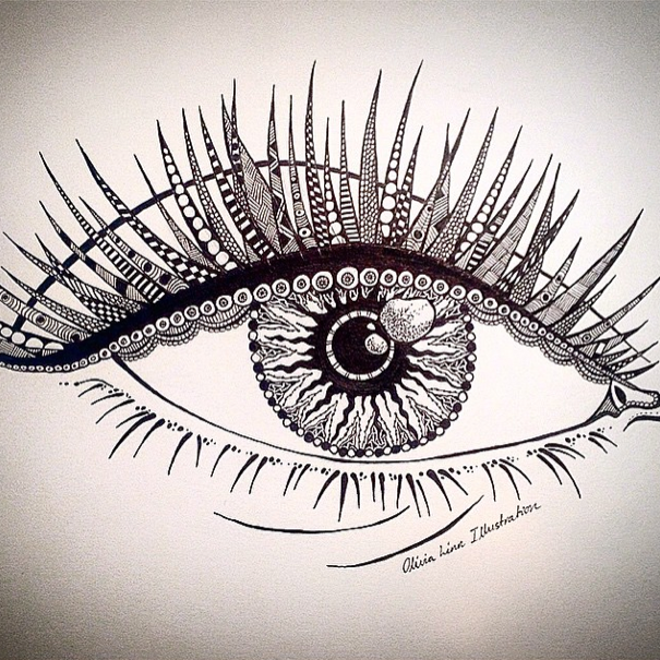 Decorative zentangle Eye