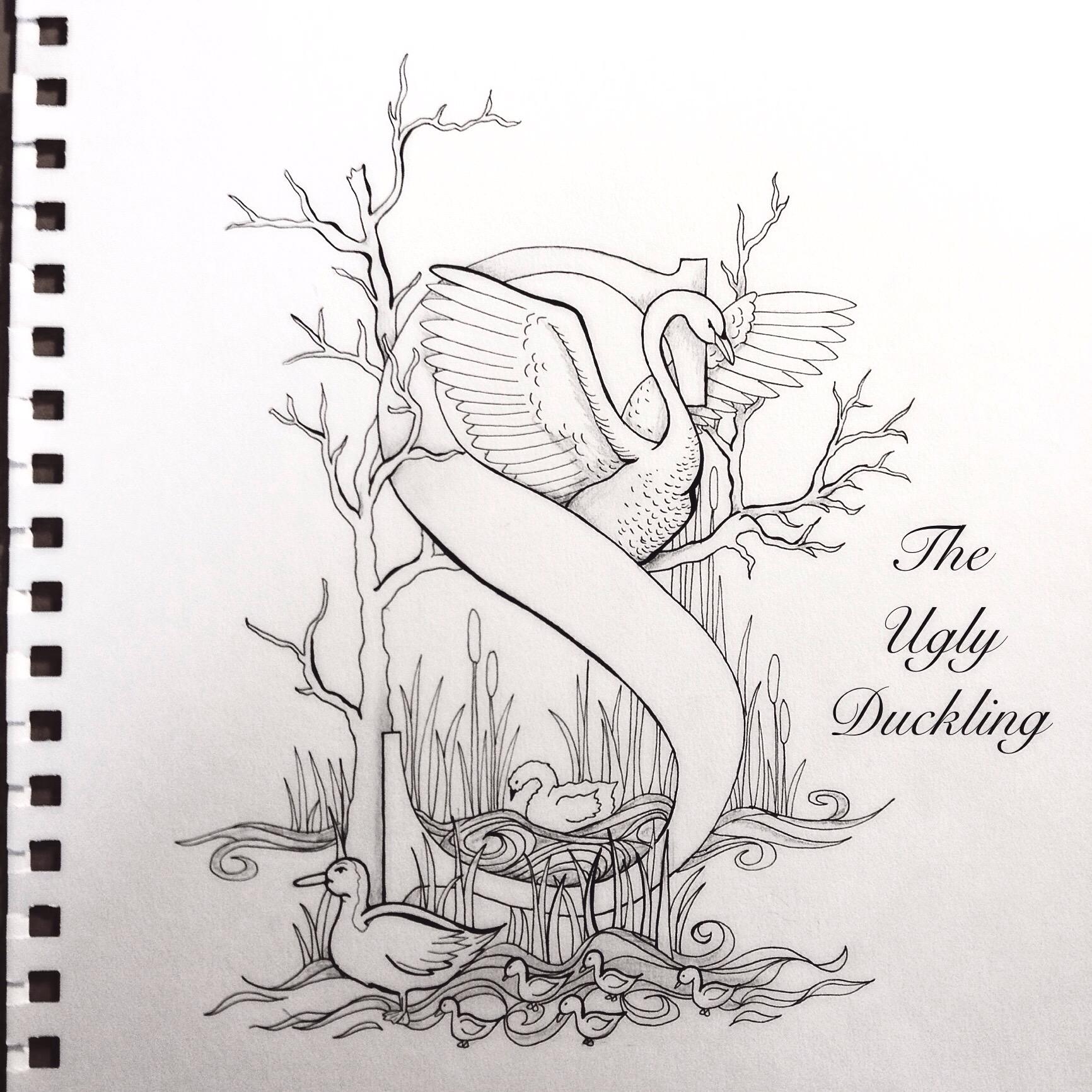 the ugly duckling u2013 fairy tale lettering olivia linn