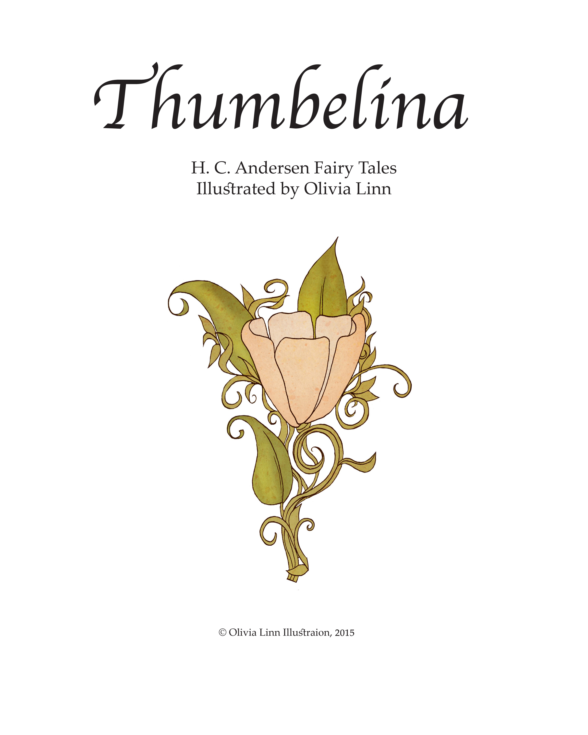book olivia linn thumbelina children s book mock up title page 2