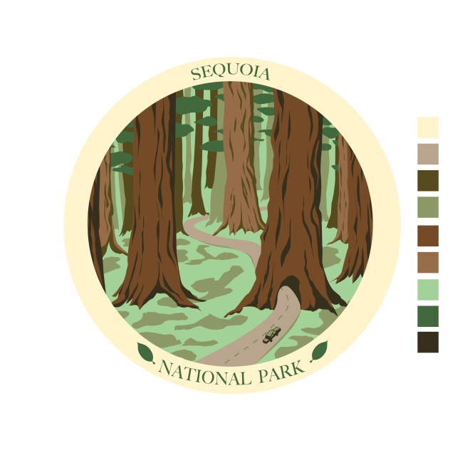 National Park poster Badge in progress