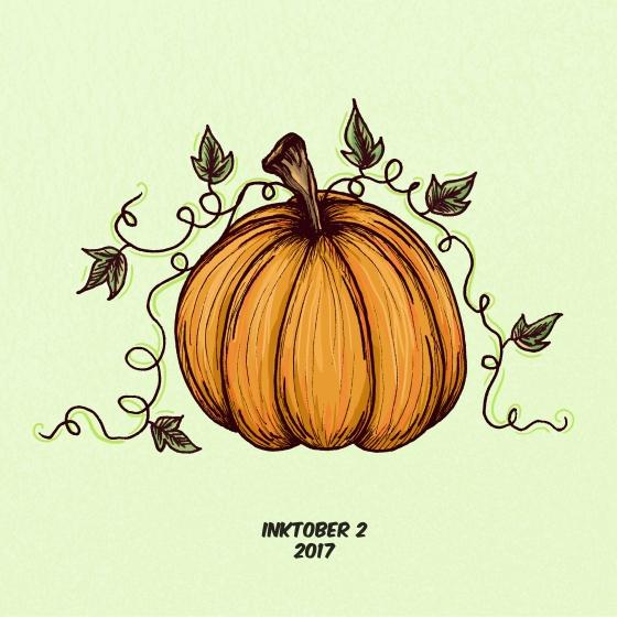 inktober 2 pumpkin