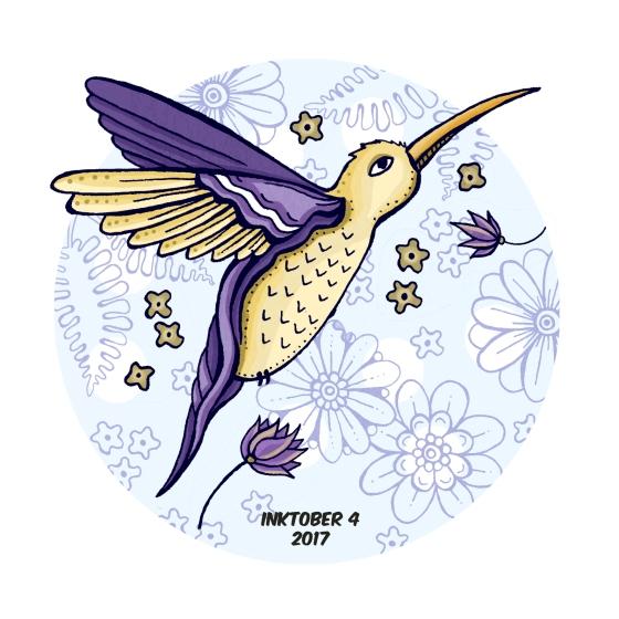 inktober 4 bird