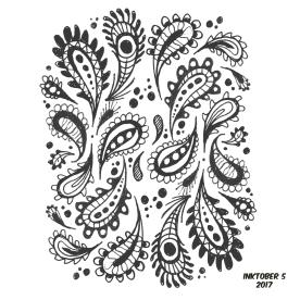 inktober pattern 5 paisley